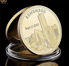 9.11 Remember Attacks World Trade Center - Recalling History Commemorative Coin