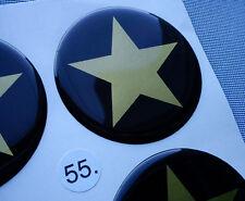 (stern 5/55G) 4x Embleme für Nabenkappen Felgendeckel 55mm Silikon Aufkleber