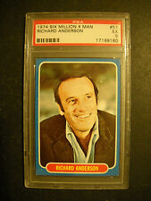 1974 SIX MILLION DOLLAR MAN TEST CARD #51  PSA 5  TOPPS
