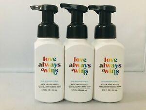 Bath & Body Works LOVE ALWAYS WINS  Gentle Foaming Hand Soap 8.75 fl oz 3pc NEW