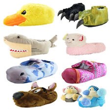 Mens Womens Unisex Boys Girls Novelty Fun Funny Slippers Animal Xmas Gift 3D New