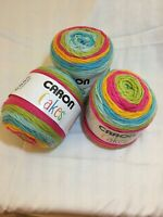 3 Caron Cakes Yarn. Rainbow Sherbet.