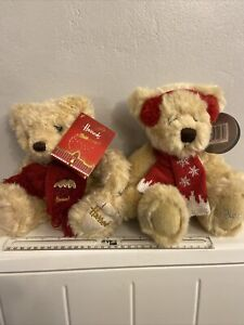 2  Harrods Christmas Teddy Bears  - Collectable. With tags.