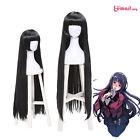 """40"""" Long Straight Wigs Kakegurui Compulsive Gambler Yumeko Jabami Cosplay Wig"""