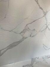 SAMPLE Floor & wall porcelain tile - multi-design, white    10.5 mm