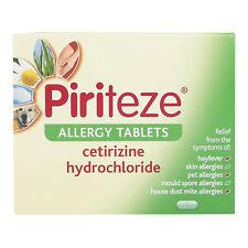 Piriteze Dust Mould Pet Skin Allergy & Hayfever Tablets 30 - Multibuy