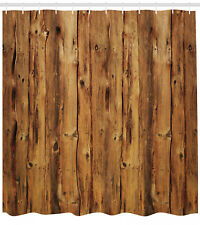 """Timber Shower Curtain Wooden Forest Trees Art Print for Bathroom 84"""" Extralong"""