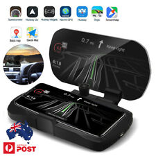 Car SUV HUD Head Up Navigation Display Phone Holder GPS Wireless Charger Pad