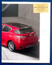 Prospekt brochure 2016 Lexus CT (USA)
