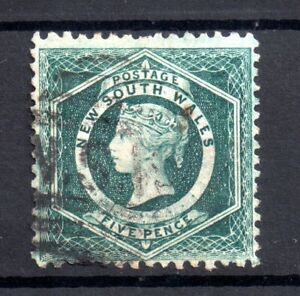 New South Wales 1860-72 5d green Perf 12 SG#141 Cat Val £110 WS20607