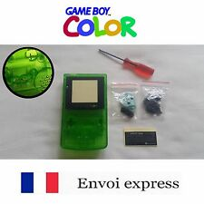 Coque GAME BOY color crystal vert NEUF NEW + tournevis triwing - étui shell case
