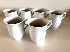 Meissen Original Porzellan Wellenspiel 6 Kaffeetassen 5 Untertassen Neuwertig