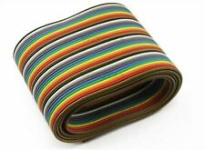 Flat Color Rainbow Ribbon 1M 3.3Ft 40 Way 40 Pin Idc Cable Wire Rainbow Cable O