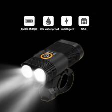 3000 Lumens Bicycle Head Light Double LED USB Rechargeable Bike Lamp 360 mount