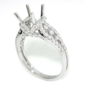 Cathedral Engagement Ring Setting For 7.0 mm Round Cut With 0.79 Diamond Accents