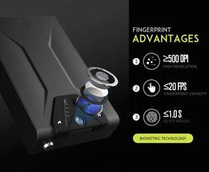 RPNB Black Gun Safe Quick Access Biometric Fingerprint LED Light, Open Box