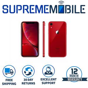 Apple iPhone XR Red 64GB 🍎 Sim FREE Network Unlocked iOS Smartphone - A1984