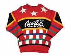 Vintage Coca Cola Sweater 80s Coke Striped Acrylic Colorblock G10