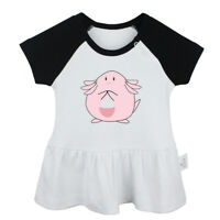 Chansey Pattern Newborn Baby Girls Dress Toddler Infant 100% Cotton Clothes Tops