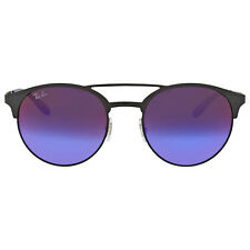 Ray Ban Blue/Violet Gradient Mirror Metal Sunglasses