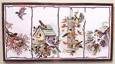 "Janlynn Cross Stitch Kit Four Seasons Birds 18"" x 10"""