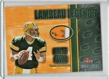 2002 Fleer Throwbacks Lambeau Legends #2 Brett Favre 3 Color Jersey