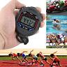 Hand- Digital LCD Chronograph Sport Counter Stoppuhr Zeitmesser Stoppuhr Schwarz