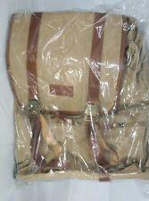 Jins & Vico Canvas & Leather Backpack Leather Vintage College Book Bag Rucksack