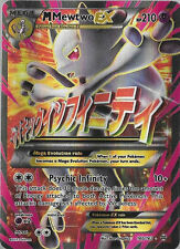 Pokemon TCG XY BREAKTHROUGH : MEGA M MEWTWO EX FULL ART 160/162 (RED)