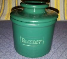 VintagePorcelain Butter Butter French Kitchen Crock Dish With Lid Storage Holder