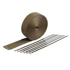 Hitzeschutzband Basaltfaser Auspuffband 15m mit Kabelbinder für Auto Thermoband