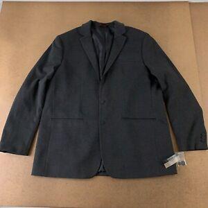 Alfani Men's Big & Tall Size XLT Black Ice Heather Two Button Suit Jacket NWT