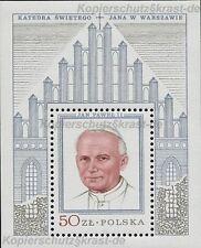 POLEN - BLOCK 76 RAHMEN SILBER - PAPST JOHANNES PAUL II - PAPIEZ JAN PAWEL II **