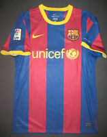 Authentic 2010-2011 Nike FC Barcelona FCB Home Jersey Shirt Kit Player Version