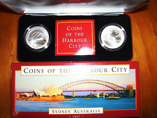 "1997 $10 Silver Two Coin Set: ""Coins of the Harbour City."""