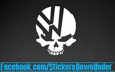VW skull VDub funny Mask JDM Drift Turbo Stance Decal Sticker Car Window JAP