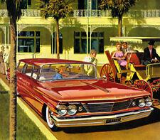 1960 Pontiac Catalina Safari Wagon, Flat Flexible Refrigerator Magnet, 40 Ml