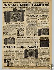 1941 PAPER AD Detrola Candid Camera GW KW G Agfa Ansco Movie Film 16 8 MM