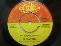 "Jo Stafford – If My Heart Had a Window 1962 7"" Pye International 7N 25139"