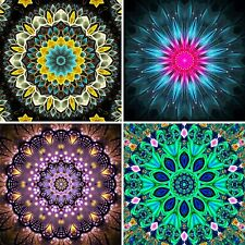 4 Pcs 5D Diamond Painting Set Full Drill Flower Painting (30X30CM/12