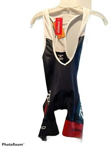 Capo Men's XS Cycling Compression Padded Bib Shorts Navy Red White Italy New