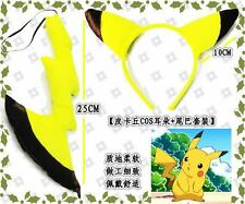 POKEMON PIKACHU PLUSH TAIL AND EARS COSPLAY COSTUMES
