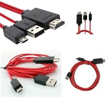 2M MICRO USB MHL TO HDMI CABLE ADAPTER HDTV 1080P SAMSUNG GALAXY S3 S4 NOTE 2 3