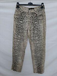 Roberto Cavalli jeans donna woman tg S Pitone Piton animals multicolore maculato