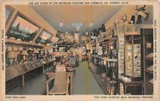 ART STORE REDWOOD PERFUME & CHEMICAL CO. EUREKA CALIFORNIA POSTCARD (c. 1930s)