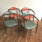 VTG Adrian Pearsall Dining Chairs Set of 4 Chairs Arms Mid Century 905-c Walnut