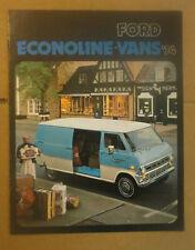 1974 Ford Econoline Vans Dealer Sales Brochure, Featuring the E-100 E-200 E-300