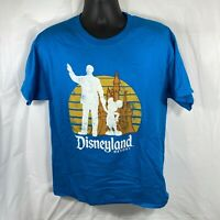 Disney Parks Disneyland Resort Mickey Large T-Shirt Sunset Silhouette With Walt