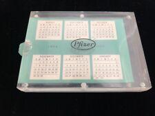 Pfizer Vintage Calendar Advertisement Birth Control 1954 Plastic Insert Promo