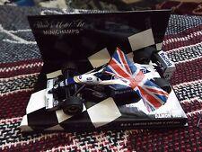 1:43 Minichamps F1-DAMON HILL WILLIAMS British GP Winner 1994-drapeau est loose